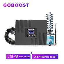 4G Sóng 4G DCS 1800MHZ Tế Bào Tăng Cường Tín Hiệu GSM 2G Màn Hình Hiển Thị LCD Cho Điện Thoại Di Động bộ Khuếch Đại Tín Hiệu Yagi + Roi Ăng Ten #