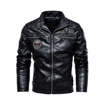 New Tactical PU leather jacket men fleece military casual Leather jacket male motorcycle windbreaker jacket leather man