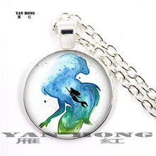 2019, Fashion necklace sea Mermaid. Children's birthday gift, sweater necklace, 25mm Glass Pendant(China)