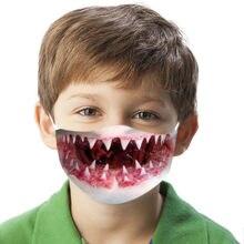 Crianças máscara engraçado 3d impressão animal à prova de poeira impresso respirável máscara ciclismo ao ar livre máscara protetora à prova de vento máscaras de saúde