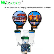 3.4 inch 800*800 IPS round screen display with mipi HDMI driver board for watch display