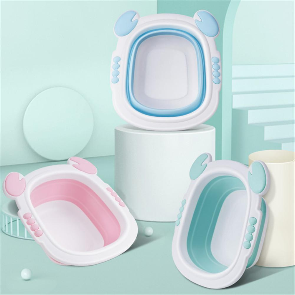 Kidlove Baby Portable Foldable Bath Tub Infant Washbasin Folding Basin Wash Holder Footbath Basin