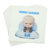 20 шт./упак. Baby Boss одноразовые салфетки для детского дня рождения 33*33 см бумажное полотенце посуда вечерние принадлежности для декора