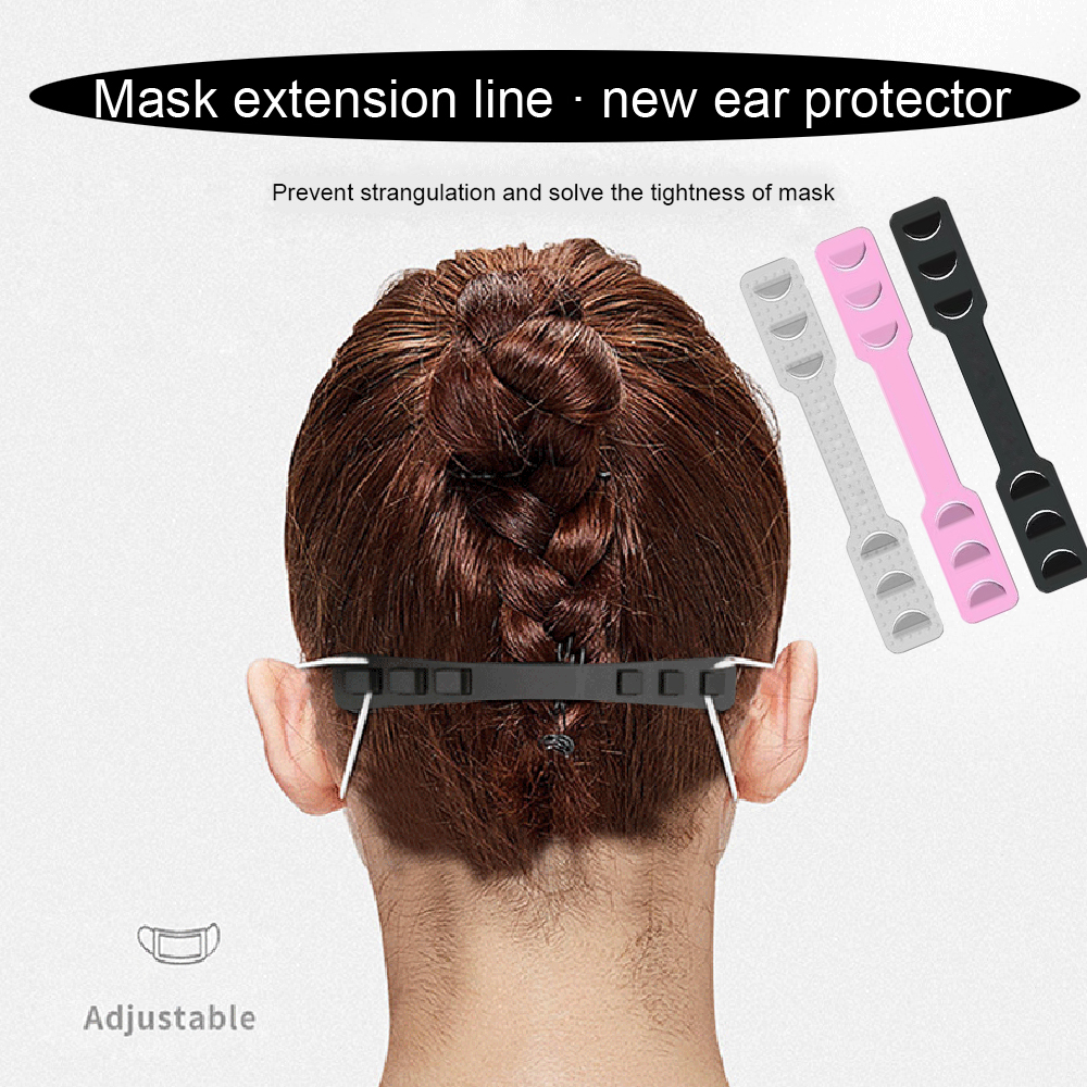 4pcs Universa Non Slip Fixing Buckle Mask Ear Hooks Adjustable Levels Band Extension Accessories Universal Flexible