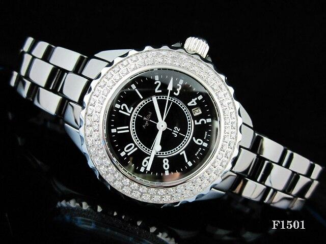 Classic  New Ceramic 2 Row Diamonds Bezel Watches Men Women Ceramica Fashion Casual Quartz Sports Watches relogio feminino