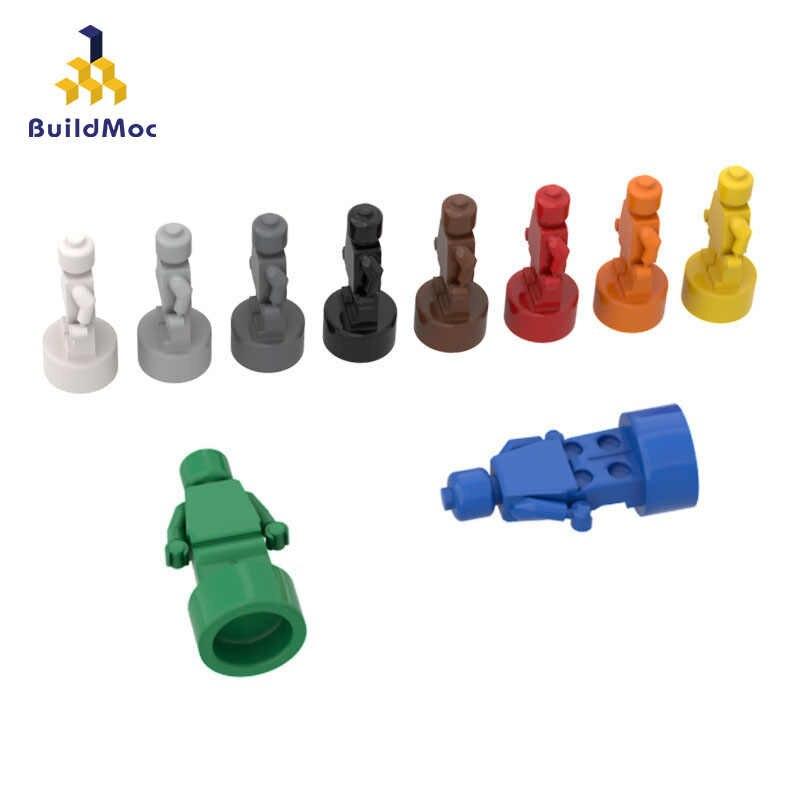 BuildMOC kompatybilny montuje cząstki 90398 1x1 figurka trofeum klocki części LOGO DIY edukacyjne Tech części zabawki