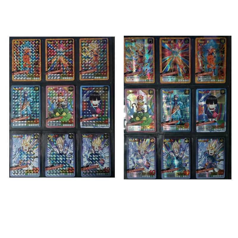 37PCS Super Dragon Ball Holographic Flash Card Limited Edition Card Hero War Super Instinct Goku Vegeta Game Collection Anime