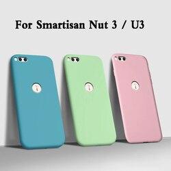 Fundas caso para smartisan porca 3 tpu líquido macio silicone caso do telefone para u3 2018 smartisan porca 3 oc106 105 capa traseira armadura coque