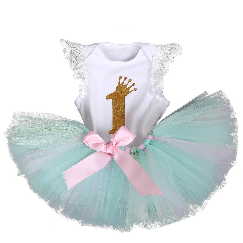Personalised Baby Girls 1st renne de Noël Tenue Tutu Costume Or Rose Femme
