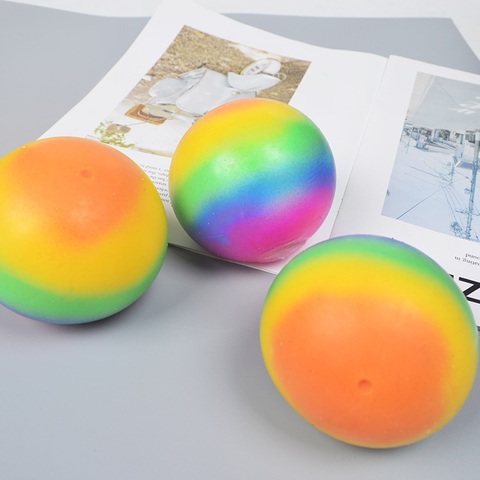 Balls Venting-Ball Relief-Toys Fidget-Sensory-Toys Rainbow Antistress Anxiety Stress-Pressure img3