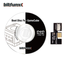 Bitfunx SD2SP2 محول استبدال مايكرو قارئ البطاقات SD + سويسري التمهيد القرص دي في دي صغير لنينتندو جيم كيوب NGC NTSC