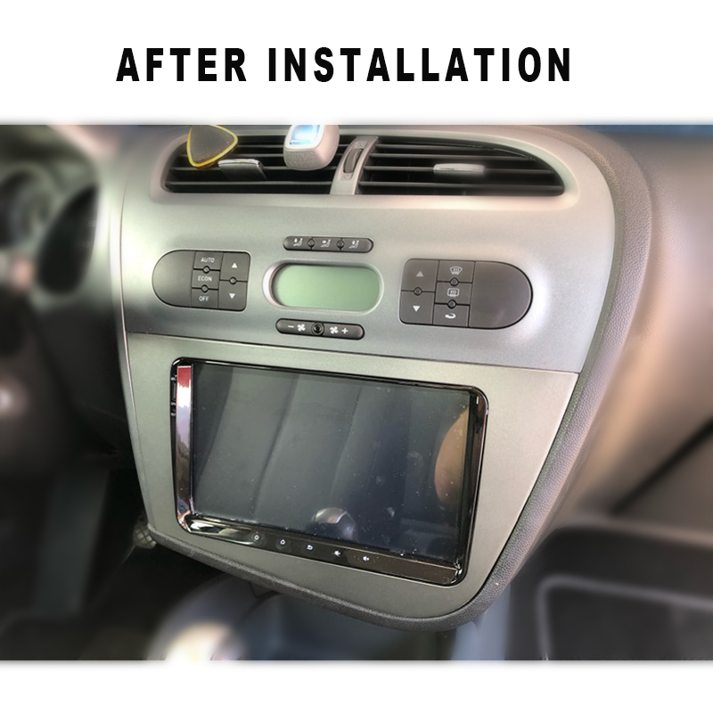 Image 5 - DOUBLE 2 DIN Car DVD FRAME Radio Fascia for SEAT Leon (LHD) Left Hand Drive stereo face plate frame radio panel dash mount kit-in Fascias from Automobiles & Motorcycles