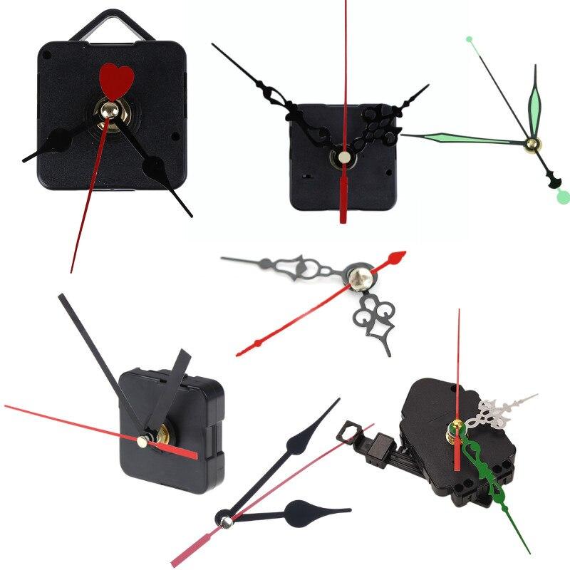 DIY Clock Black Quartz Watch Wall Clock Movement Mechanism Parts Repair Replacement Essential Accessories|Wall Clocks| |  -