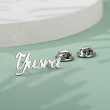 Jewelry Symbolic Brooch Badges Customized Letter for Women Man Child Business-Suit Identity