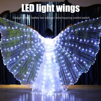 New Fashion Adult Wings LED Butterfly Costume Accessories Shawl Fairy Performance Clothing Ladies Stage Play Clothes Accessories