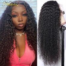 Nadula вьющиеся человеческие волосы парики 13x4 кружевные передние человеческие волосы парики 5x5 HD кружевной парик Remy волосы на шнуровке передн...