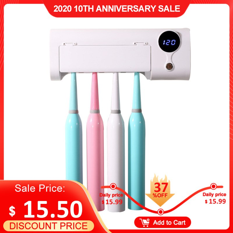 JUJIAJIA Smart Induction UV Electric Toothbrush Sterilizer Toothbrush Holder For Oclean Dr. Bei Electric Toothbrushes