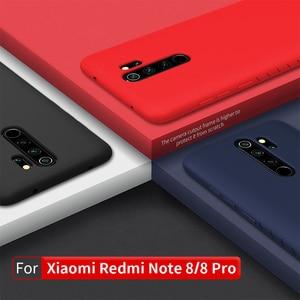 Image 2 - Redmi Note 8 Pro Case Casing NILLKIN Liquid Smooth Silicone Case For Xiaomi Redmi Note 8 Pro Cover Luxury Protective Bags
