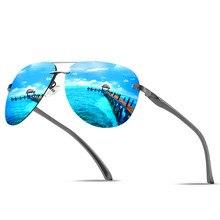 Gafas de sol na montanha para piloto, lentes de metal para montagem ovalada, uv400