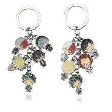 Anime My Hero Academia Keychain Boku No Hero Academia Key chains For Men Women Car Key Holder Christmas Gift Keyrings