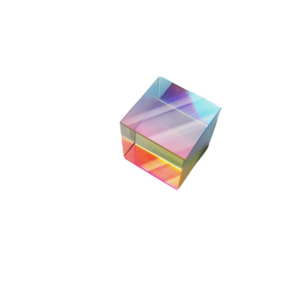 Küp optik cam 28*28*28mm optik prizma gökkuşağı küp açık renk büyük bir hediye çocuk bilim deney