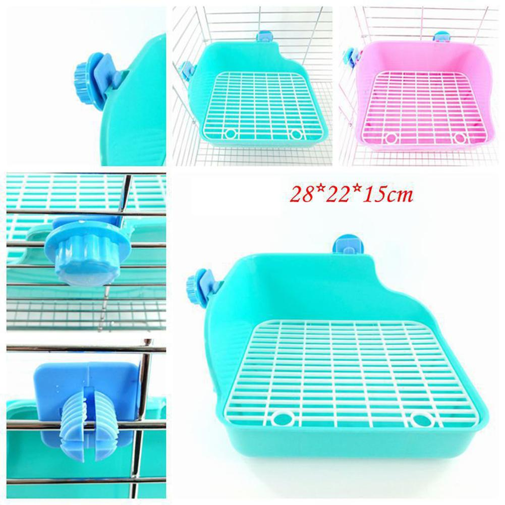 New Arrival Small Pet Toilet Square Anti-Spray Urine Plastic Basin For Rabbit Chinchilla Guinea Pig Mole
