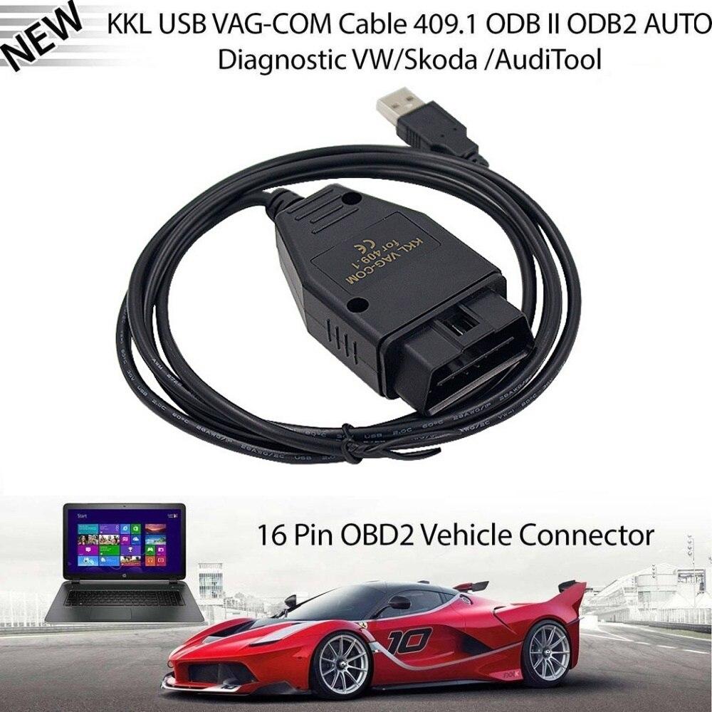 Car USB Cable VAG-COM KKL 409.1 Auto Scanner Scan Tool Test Line Fault Diagnosis Instrument For Audi And For Volkswagen