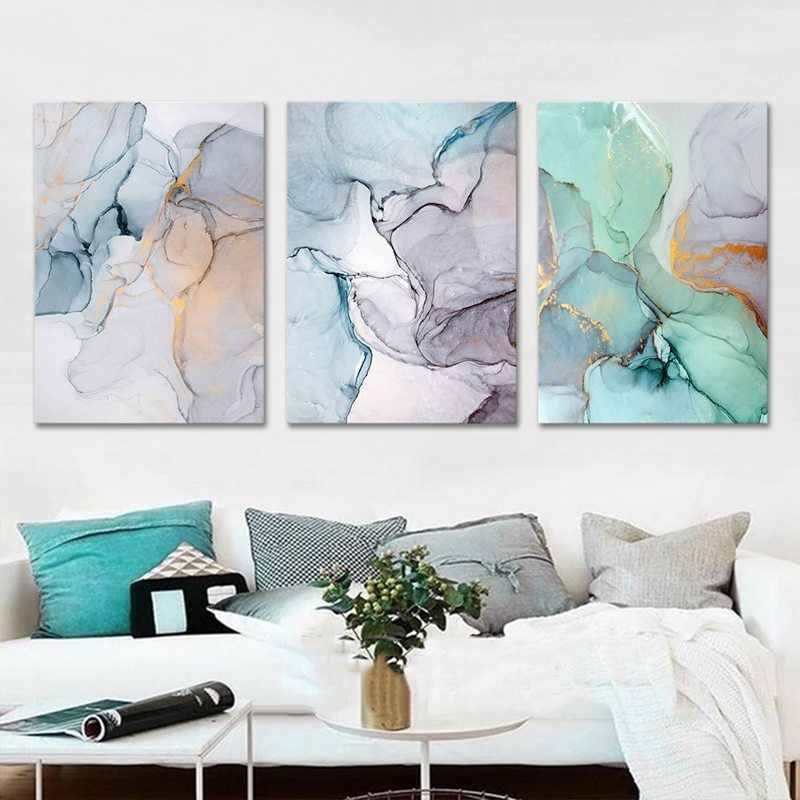 Nowoczesne abstrakcyjna obraz olejny akwarela minimalistyczny wystrój domu na płótnie obrazy Wall Art reprodukcje Nordic plakat