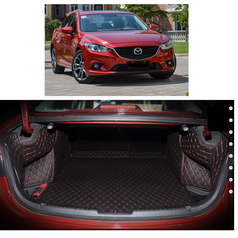 Lsrtw2017 Leather Car Trunk Mat Cargo Liner For 2013 2014 2015 2016 2017 2018 2019 2020 Mazda 6 Gj Carpet Interior Accessories