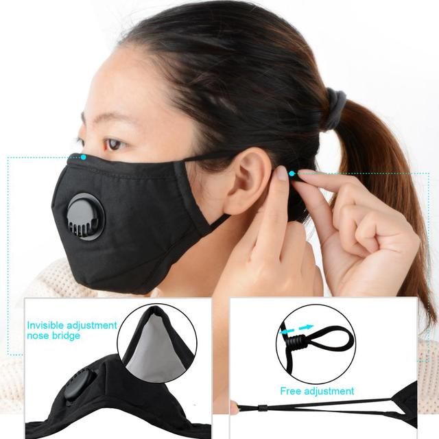 10/50/100 Filters Protective Face Mask Thick Dust And Haze Particles Outdoor Mask For Dust Smoke Allergy Adjustable Reusable 1