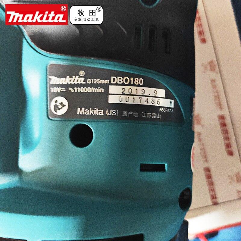 Makita DBO180Z 18 V Li-Ion Random Orbit Sander sans fil corps 2 Piles 3Ah