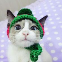 Hat Cat-Accessories Pet-Supplies Puppy-Cap Christmas-Ball Knitted Halloween Cosplay