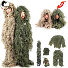 Kids Jungle Mens Ghillie Suit Boy Camouflage Sniper Hunting Kids Girl Clothes Woodland
