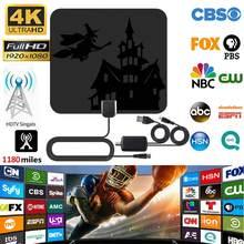 Antena Digital HDTV de alta calidad, amplificador de interiores, transmisión de canales locales, 1180 millas, 4K, envío directo