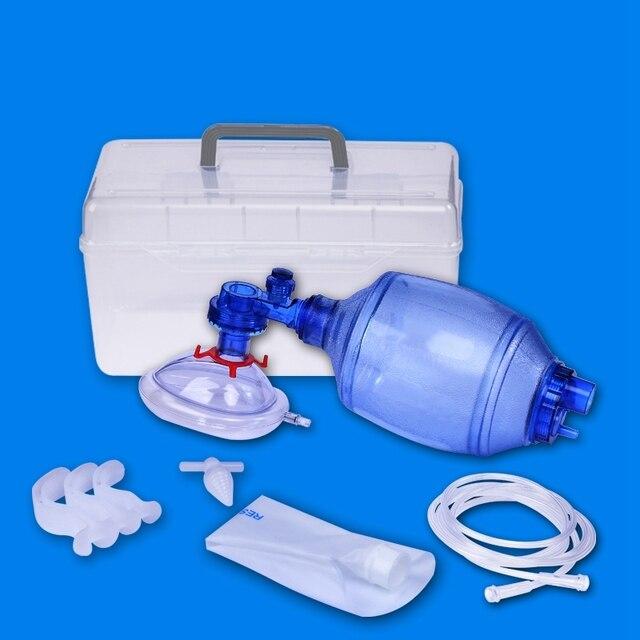 Manual Resuscitator Adult Size PVC  Ambu Bag Oxygen Tube First Aid kit Breathing Apparatus 8