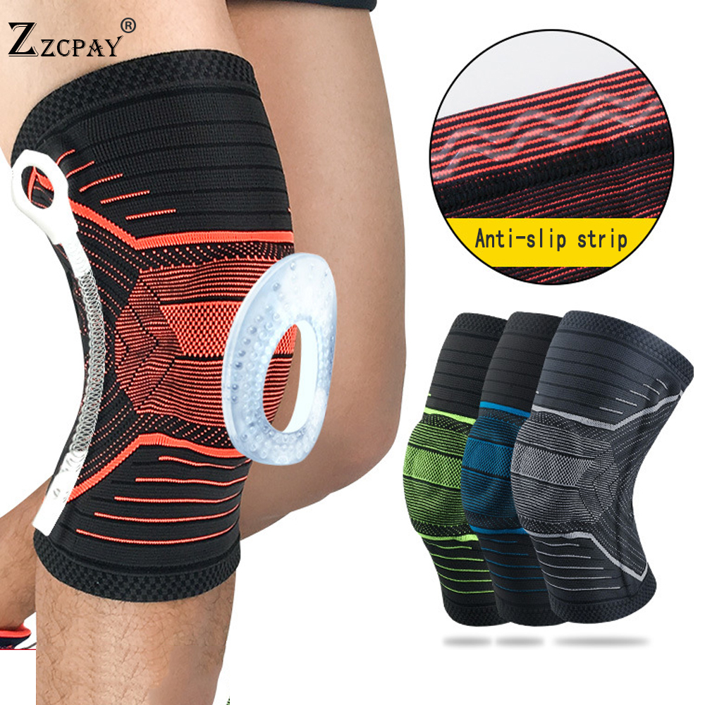 1 PCS Sports knee pad Support Running Jogging Sports Brace Volleyball Basketball Safety Guard Strap Knee Pads Cycling Kneepads