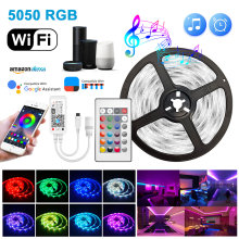 LED Strips Light Bluetooth 5050 RGB 2835 LED Flexible Ribbon Wifi Smart alexa 5m-20m DC12V Tape Diode Bedroom Decoration