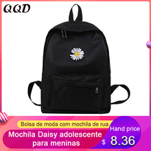 Small Backpack Street-Handbag School-Bag Student Daisy Canvas Teenager Travel Multifunction