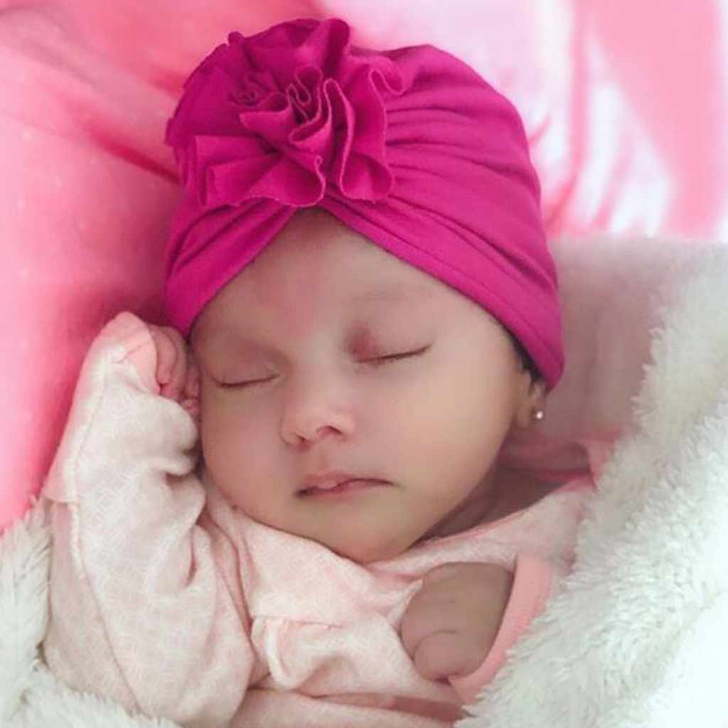 baby beanie Baby Flower baby winter cap Indian Fashion baby cap Girl boys cap Fashion Hats Cute baby turban newborn accessories