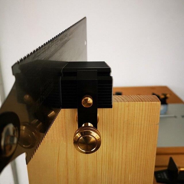 Artisanat avec plaque en plastique Guide de scie à queue daronde magnétique menuiserie réglable coupe outil de travail du bois universel alliage daluminium