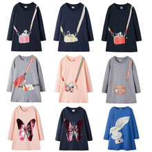 New autumn girls dress cotton little long sleeve for dresses winter fashion girl christmas party princess