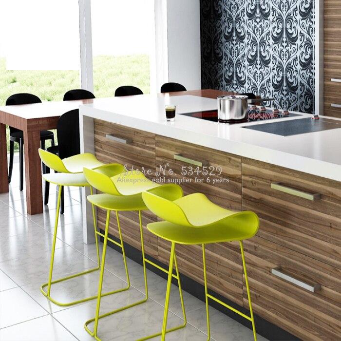 25%H 14%Modern Minimalist Bar Chair European Wrought Iron Bar Stool High Stool Bar Chair Front Bar Stool