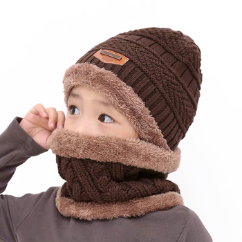 Boys Knitted Hat with Scarf 3