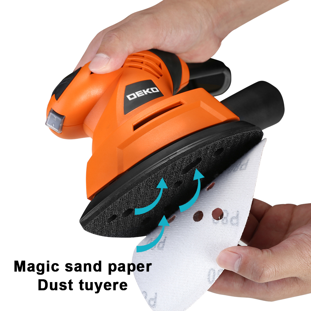 Image 2 - DEKO 2019 NEW Mouse Sander  Dust exhaust Mouse Sander for Wood Working Home DIY  Easy to Use with 9 Sheets of sandpaper-in Sanders from Tools
