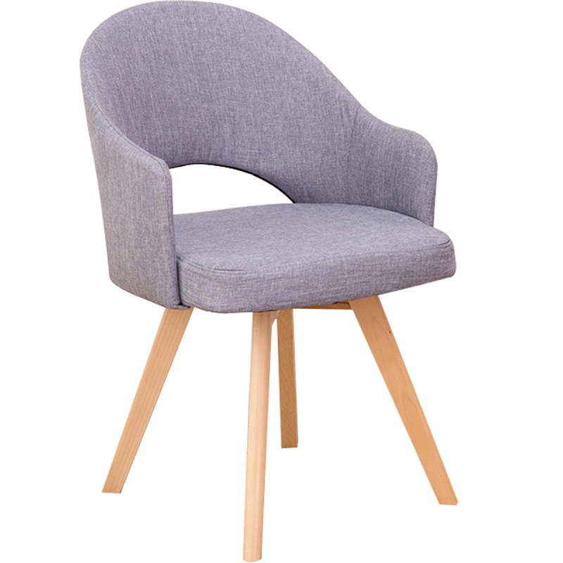 Nordic Solid Wood Dining Chair, Contemporary And Contracted Household Adult Single Person Sofa Computer Desk Chair Chair Cafe