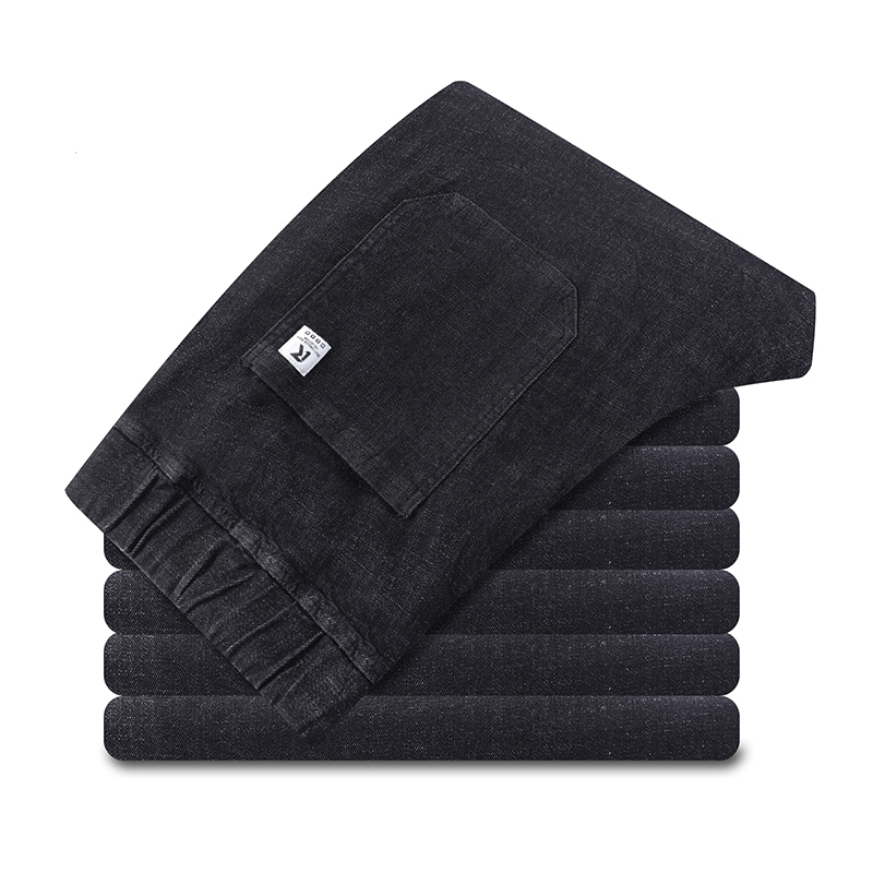 8xl 6xl  New Men's Casual Jeans High Elastic Cotton Straight Trousers New Plus Size Fashion Male Jeans Big Size