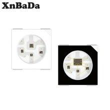 Puce LED RGB, adressable individuellement, 10 à 1000 pièces, DC5V WS2812B, 5050SMD, noir/blanc, PCB WS2812 Pixels