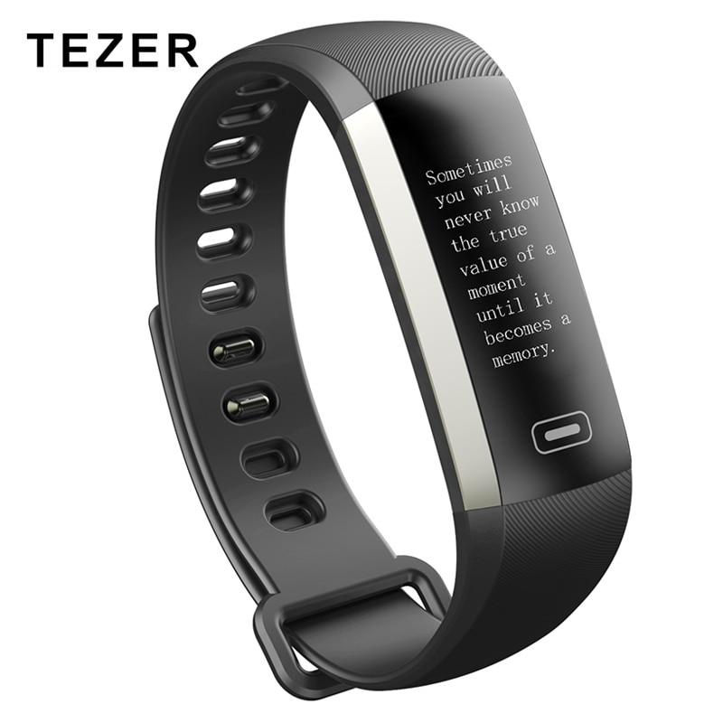 Tezer R5MAX banda Inteligente presión arterial, ritmo cardíaco oxígeno oxímetro de pulsera deporte reloj Inteligente Pulso para iOS Android hombres