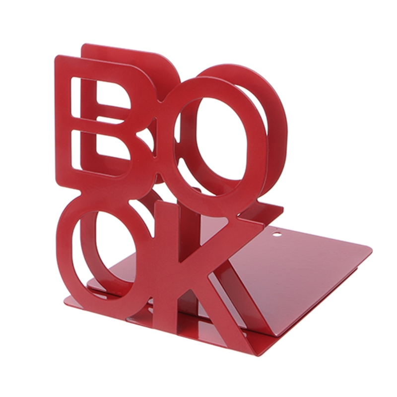 Alphabet Shaped Metal Bookends Iron Support Holder Desk Stands For Books   M5TB