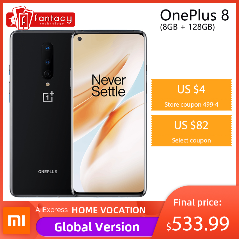 In Stock Global Rom Oneplus 8 5G Smartphone Snapdragon 865 Octa Core 8GB 128GB 6 55